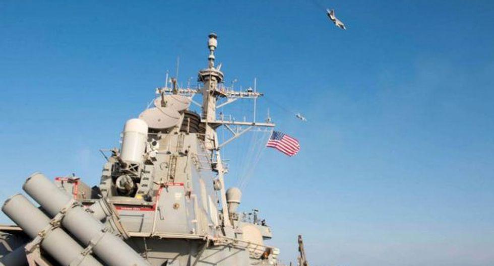 La Armada norteamericana recordó que sigue apoyando a sus aliados en la defensa de los intereses regionales y la estabilidad marítima, en clara alusión a Ucrania. (Foto: AFP)
