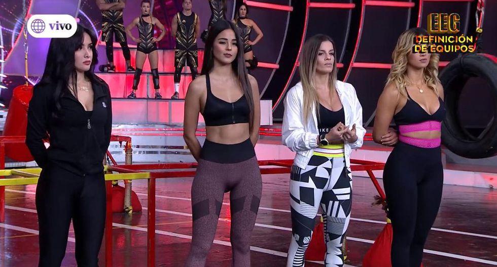 """Nicola Porcella no apareció en """"Esto es guerra"""", pero Angie Arizaga sí. (Foto: @estoesguerra_tv)"""