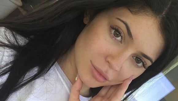 Kylie Jenner sin maquillaje en primer plano (Foto: Instagram)