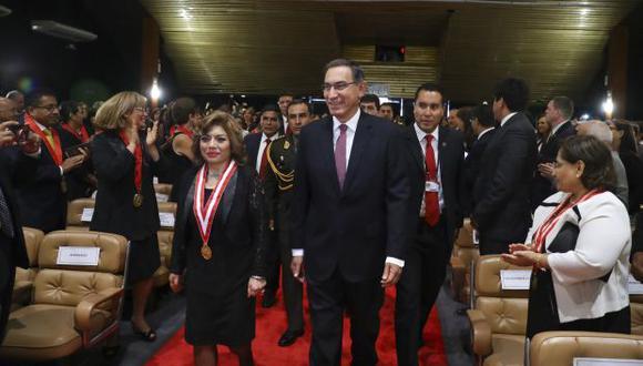 """""""Hoy más que nunca necesitamos el compromiso de fiscales y jueces honestos"""", dijo también el presidente Martín Vizcarra. (Foto: Presidencia)"""