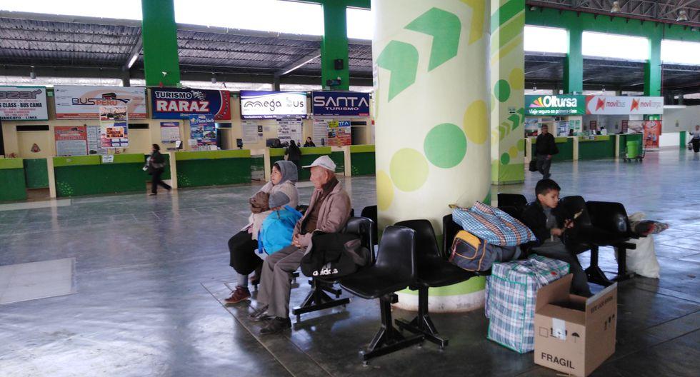 Junín: suspenden venta de boletos a Lima en terminal de Huancayo por paro de mineros. (Foto: Junior Meza)