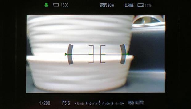 Así es como se ve cuando uno asoma el ojo por el visor de la Alpha 7C de Sony. (Foto: Bruno Ortiz B.)