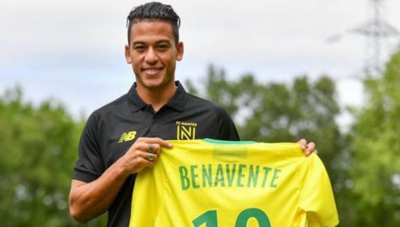 Cristian Benavente participó en 12 partidos de Nantes en la temporada 2019-20 de la Ligue 1. (Foto: Nantes)