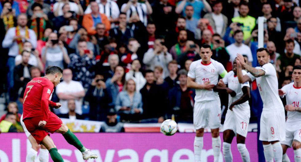 La definición de Cristiano Ronaldo ante Suiza. (Foto: AP)