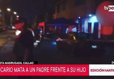 Callao: asesinan a padre de familia delante de su menor hijo en Bellavista | VIDEO