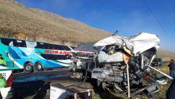 El accidente de carretera ocurrió a las 4 de la madrugada en el caserío de Conococha (Foto: Rudy Espíritu)