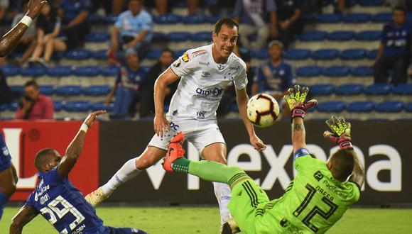 Cruzeiro ganó por 1-0 a Emelec y llegó a su tercera victoria consecutiva en el grupo B de la  Copa Libertadores 2019. (Foto: AFP)