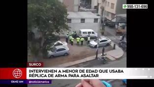 Surco: Detienen a menor de edad que usaba réplica de arma para robar