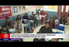 Minedu evalúa medidas para eventual reinicio de clases presenciales para el 2021