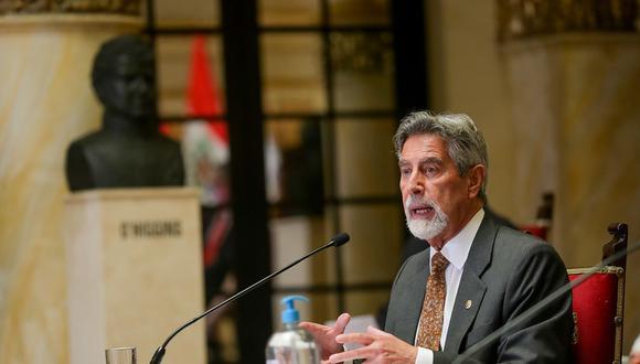 El mandatario Francisco Sagasti expresó su confianza en que la norma será declarada inconstitucional. (Foto: Presidencia)