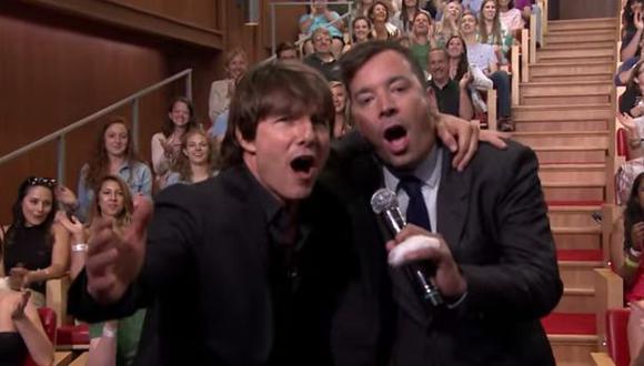 Tom Cruise y Jimmy Fallon en divertida competencia de canto