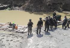Amazonas: destruyen más de S/879 mil en equipos usados en minería ilegal