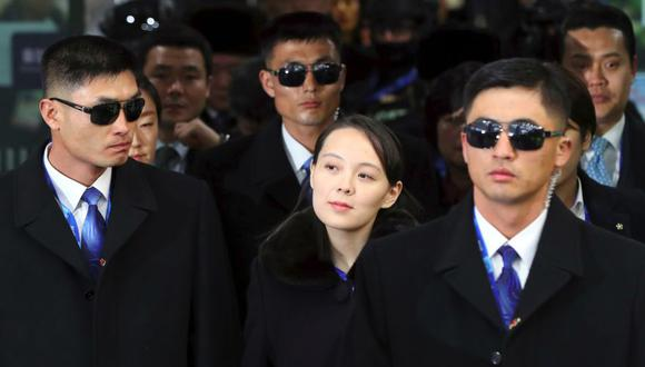A la hermana menor de Kim Jong-un la acompaña una delegación de 280 personas, en la que figuran desde altos cargos políticos hasta deportistas y animadoras de Corea del Norte. (Foto: AFP)