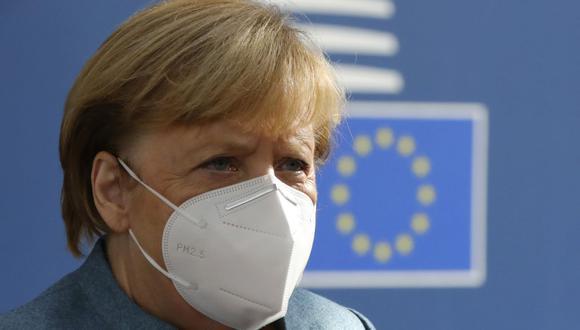 La canciller alemana, Angela Merkel, advirtió ante el número creciente de nuevos contagios diarios con el coronavirus en Alemania que los próximos meses van a ser duros. (Foto: Olivier Matthys / POOL / AFP).