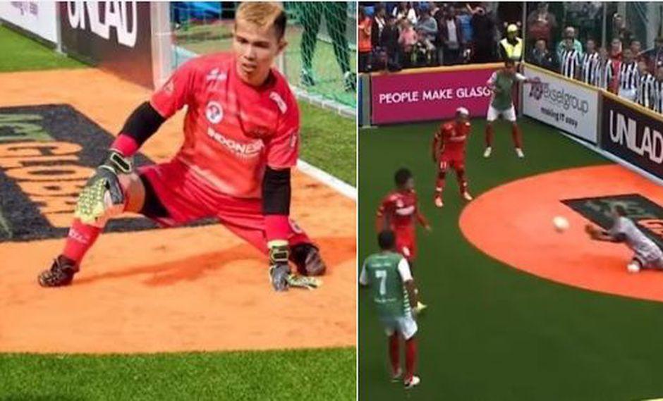 Eman Sulaeman es un joven que venció sus limitaciones para practicar el deporte que más le apasiona: el fútbol. Conoce esta gran historia en Facebook. (Foto: captura de video)