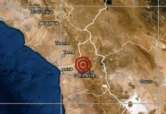 Sismo de magnitud 4,7 se reportó en Tacna, señala IGP