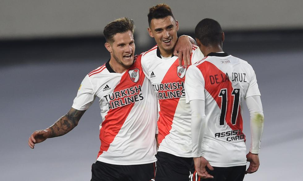 River goleó 4-0 a Unión en el Monumental con goles de Romero, Suárez, De la Cruz y Díaz. | Foto: @river