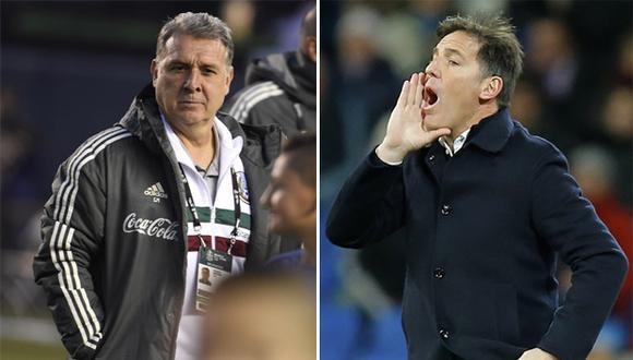 Gerardo 'Tata' Martino y Eduardo 'Totó' Berizzo vuelven a encontrarse, esta vez en equipos rivales, en el México vs Paraguay. (AFP / AP)