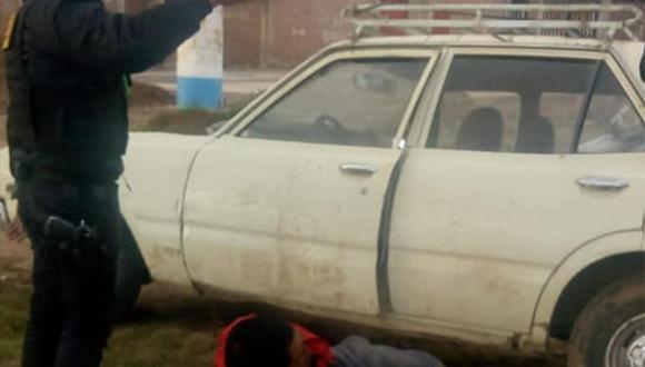 El sujeto fue llevado a la comisaría por realizar la peligrosa maniobra. (Foto: Serenazgo de Puno)