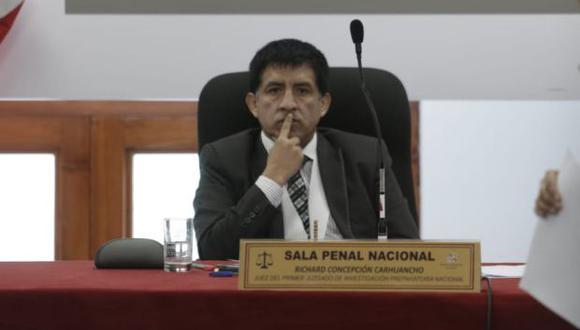 El juez Richard Concepción Carhuancho ya ha ordenado prisión preventiva para 2 de los 11 investigados: Keiko Fujimori y Vicente Díaz Checa. (Foto: Anthony Niño de Guzmán / El Comercio)