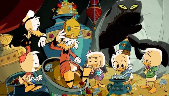 """De izquierda a derecha Hugo, Donald, Rico McPato, Rosita, Paco y Luis; protagonistas de """"Patoaventuras"""" (""""DuckTales""""). (Foto: Disney)"""