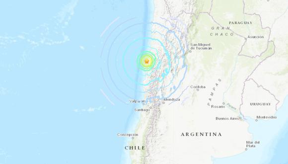 Sismo de magnitud 7,0 sacude el norte de Chile. (USGS).