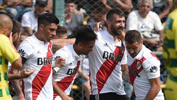 River Plate derrotó de visita a Defensa y Justicia por la Superliga argentina. (Foto: Twitter)