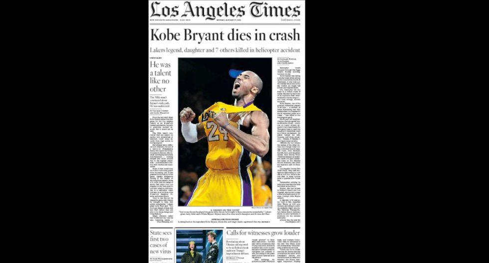 La portada de Los Ángeles Times. (Foto: Difusión)