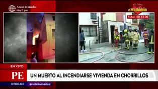 Chorrillos: incendio en vivienda multifamiliar dejó un muerto