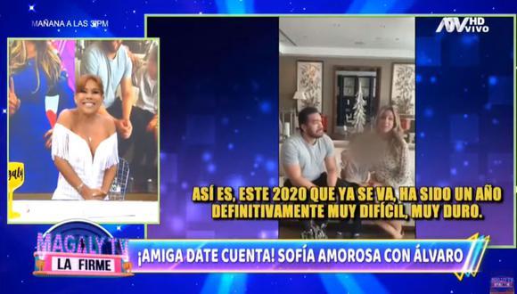 Magaly Medina arremete contra Sofia Franco por perdonar a Álvaro Paz de la Barra. (Foto: Captura de video)