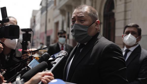 El exprocurador Christian Salas asumió la defensa legal de de Fuerza Popular ante pedido de suspensión temporal del partido (Foto: Leandro Britto/GEC)