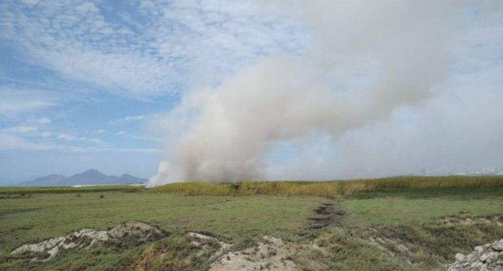 Áncash: incendio arrasó con 20 hectáreas del humedal de Villa María de Chimbote. (Foto: Laura Urbina)