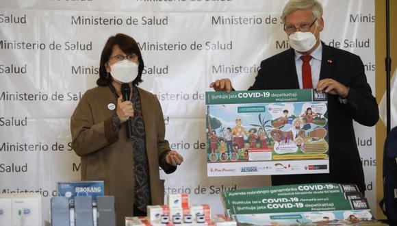 Participaron en el acto, el Embajador de Alemania en Perú, Stefan Andreas Herzberg. (Fotos: Britanie Arroyo/ @PHOTO.GEC)