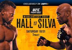 UFC Vegas 12 EN VIVO: con Anderson Silva vs. Uriah Hall en la estelar; cartelera y horarios del evento de MMA