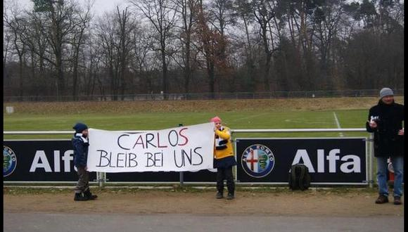 """Niños hinchas del Eintracht a Zambrano: """"Quédate con nosotros"""""""