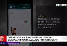 Capturan a banda que coordinaba asaltos por WhatsApp
