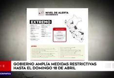 Estado amplía medidas restrictivas hasta el domingo 18 de abril