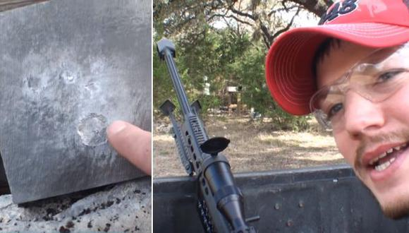 ¿Un proyectil puede perforar una placa de titanio? [VIDEO]