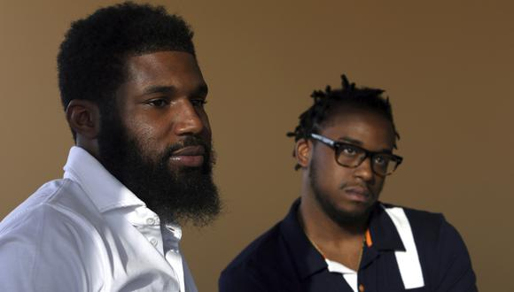 Rashon Nelson y Donte Robinson fueron detenidos el 12 de abril cuando una gerente de Starbucks Filadelfia llamó a la policía para denunciarlos mientras esperaban a un amigo. (AP).