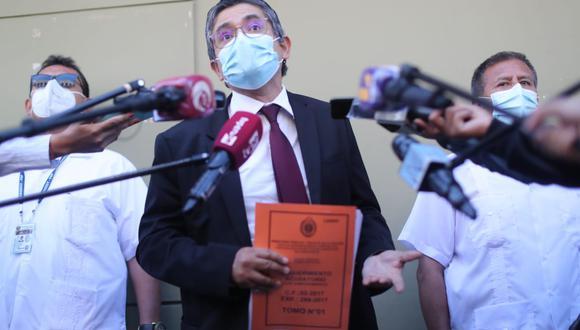 El fiscal José Domingo Pérez presentó formalmente la acusación contra Keiko Fujimori. (Foto: Lino Chipana Obregón / GEC)