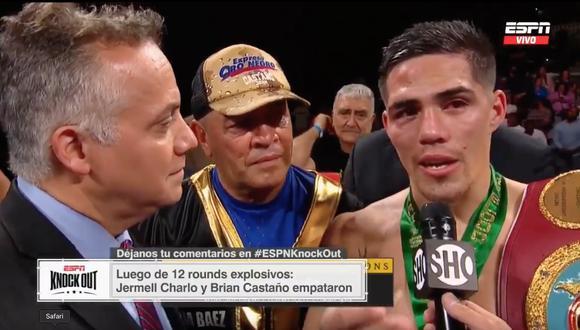 """Brian Castaño: """"La pelea la gané, quiero pedir la revancha, sé que fui el ganador"""""""