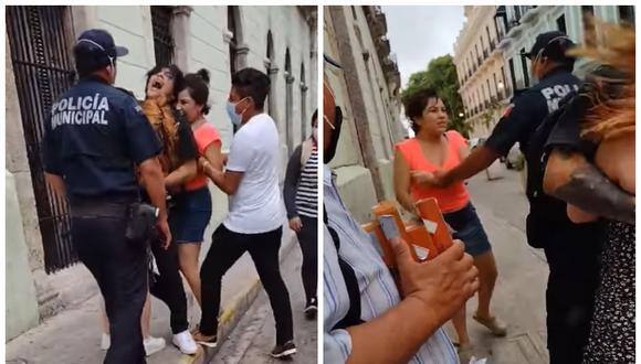 Mujer descubre que su novio le es infiel y decide confrontarlo en plena calle. (Foto: Facebook | Raymundo Flota)
