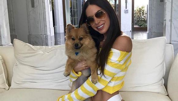 Jen Selter presentó su nueva serie y su perrito Gram se robó toda la atención. (Foto: Instagram)
