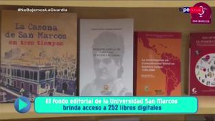 Fondo Editorial San Marcos brinda acceso a 252 libros digitales