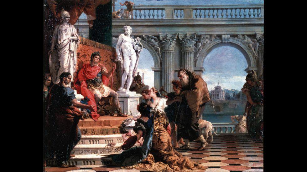 Augusto, el primer emperador romano. Óleo de Giambattista Tiepolo en el Museo del Hermitage, de San Petersburgo.