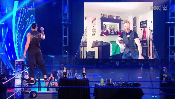 La noche de Smackdwn cerró con un capítulo más de la rivalidad entre Jeff Hardy y Sheamus. (WWE)