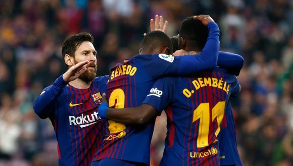 Barcelona goleó sin atenuantes a Villarreal con doblete de Ousmane Dembélé y notable partido de Andrés Iniesta. La visita sí hizo el tradicional pasillo. (Foto: Reuters)