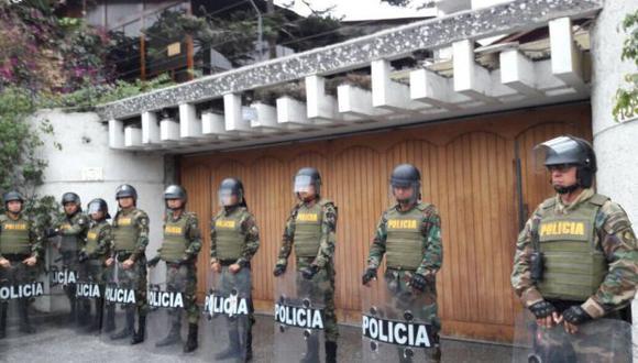 Este es uno de los inmuebles de Vicente Díaz Arce incautados por orden del Ministerio Público. Se ubica en la cuadra uno de la calle Incario, en Surco. (Foto: Mininter)