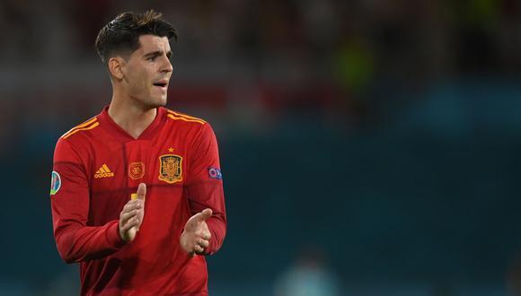 Álvaro Morata marcó el gol de España contra Polonia en Sevilla. (Foto: EFE)