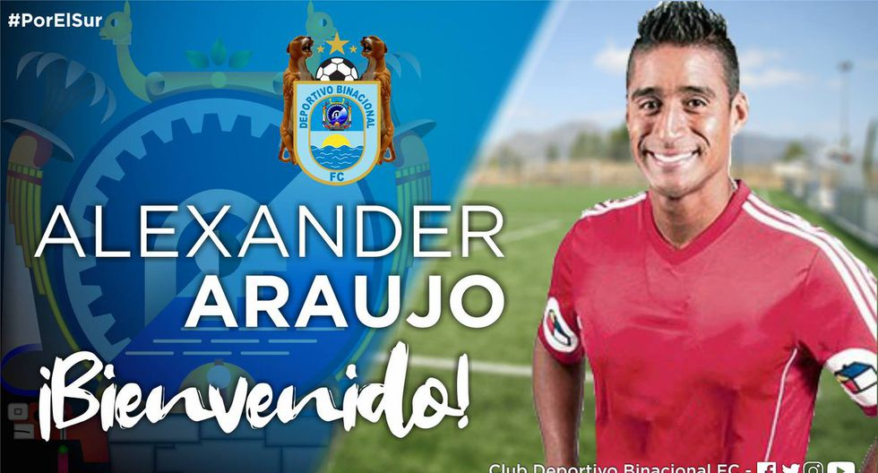 Alexander Araujo, arquero nacional, se unió a Binacional desde Comerciantes Unidos. (Foto: Twitter @BinacionalFC)